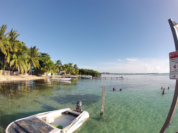 View from the dock at Sea Dreams Hotel on Caye Caulker. #Belize