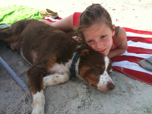 Tucker and Cozette, on vacation 2009